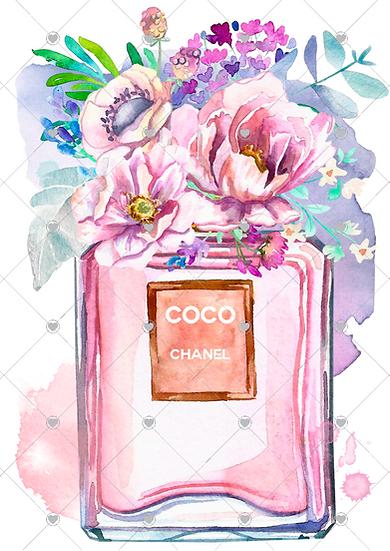 Coco Pink bottle - unframed (less watermark)