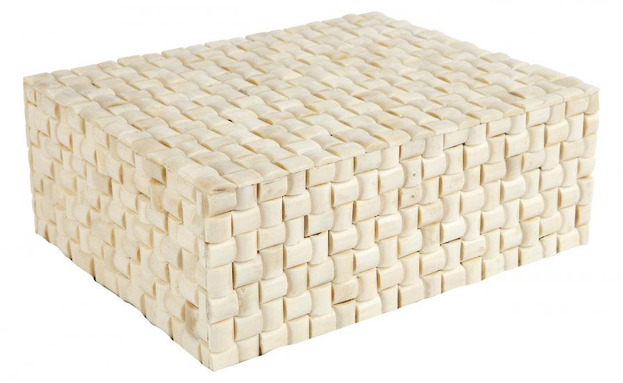 Handcrafted bone storage box large
