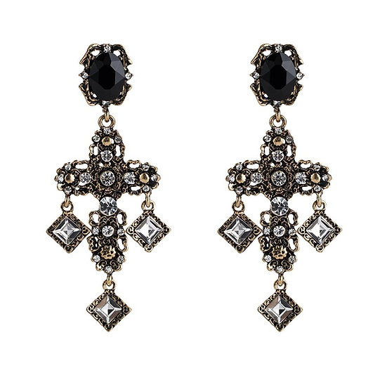 Asimina cross earrings