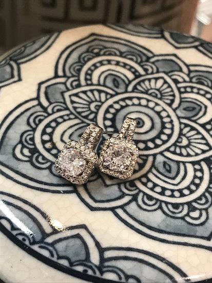 925 Stirling Silver / Crystal earrings