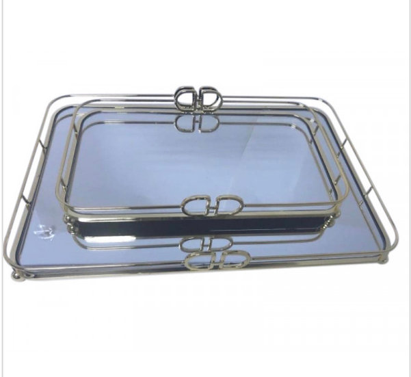DD Rectangle Gold Tray Large 45x30x6
