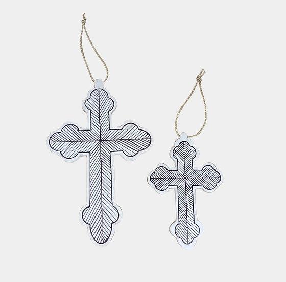 Black and white Decor Cross