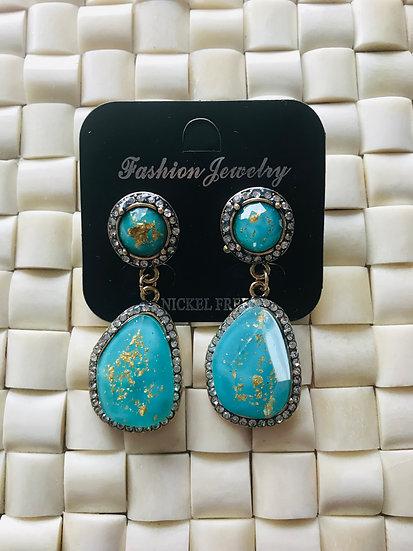 Rhinestone earrings jewellery