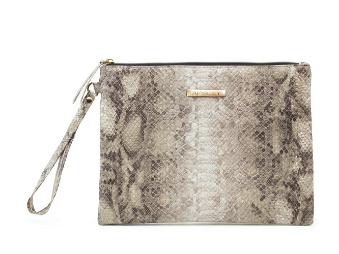 Cosmetic Case Bag Pouch Snake Skin