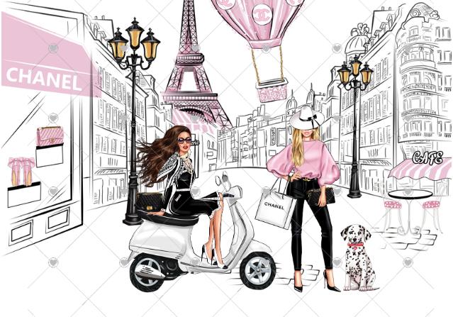 Streets of Paris - unframed (less watermark)