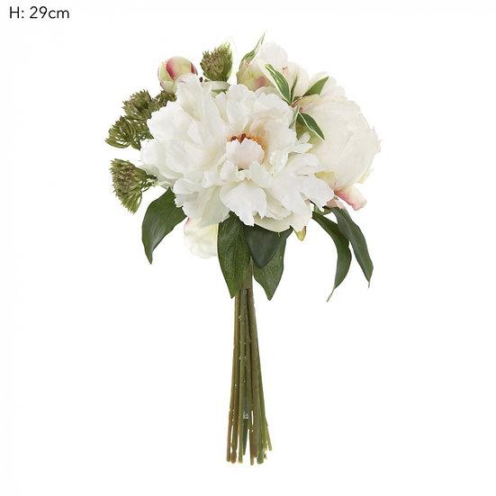 White Peony Posy 29cm