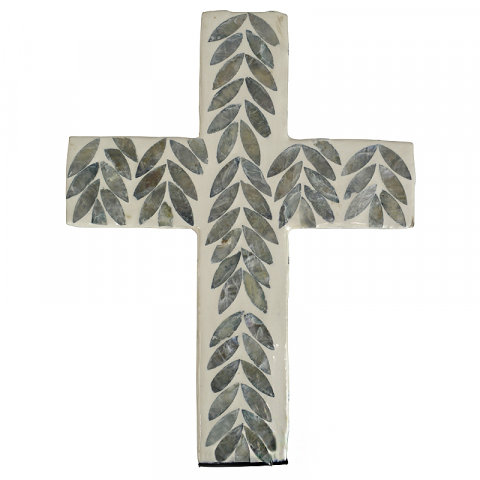 shell inlay cross
