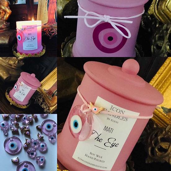Pink Mati candle