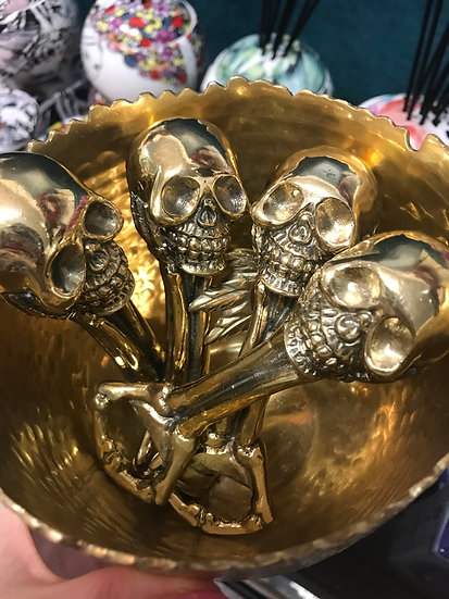 Brass Skull Bottle Opener