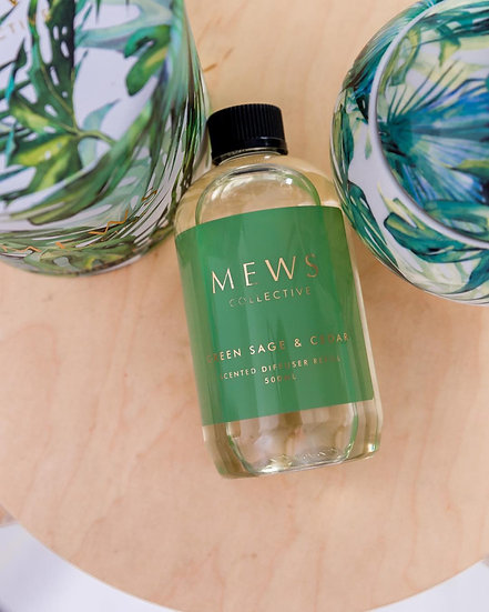 Refill Green Sage and Cedar  by Mews Collective