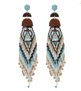 Ella ethnic drop earrings