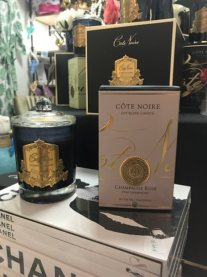 Champagne Rose Pink Champagne candle by Cote Noire