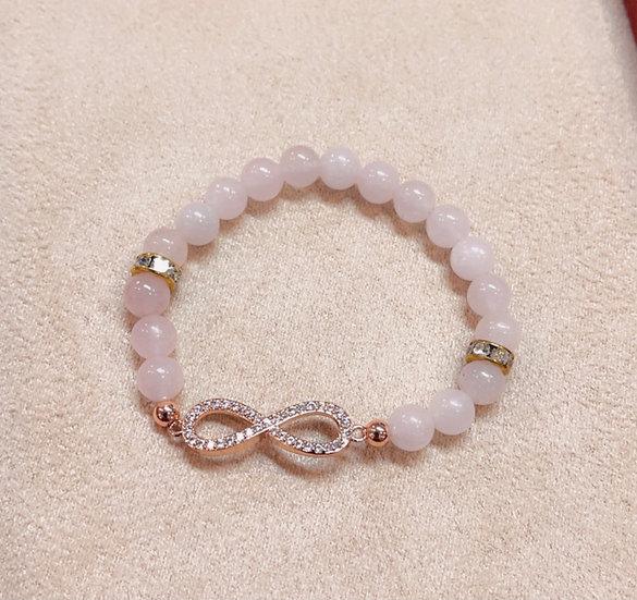 Children's pink infinity bracelet