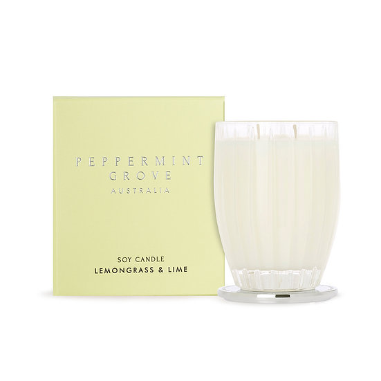 Peppermint Grove Candle - Lemongrass & Lime (Large)