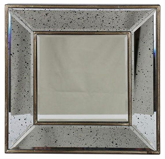 Square beveled mirror - Antique style