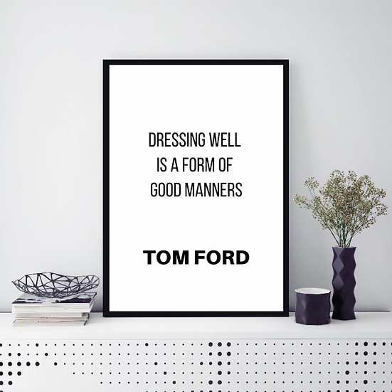 fashion wall art quote