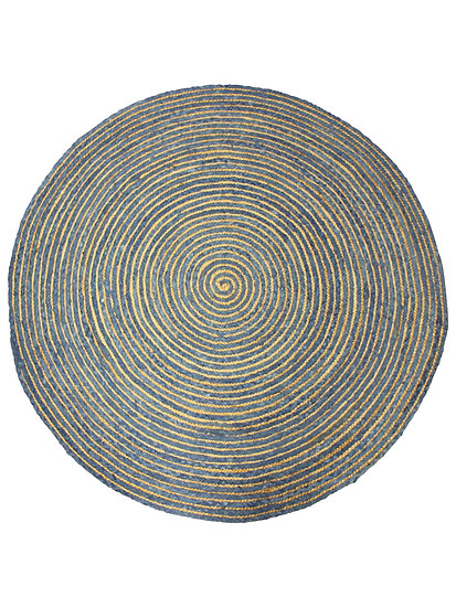 jute rug navy and natural weave