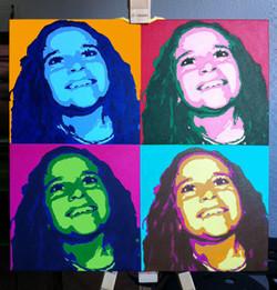 Warhol vom Foto auf Leinwand