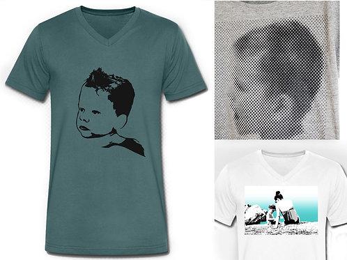 T-Shirt Popart / Dotprint-Druck, Mann