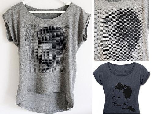 T-Shirt PopArt/ Dotprint-Druck, Frau