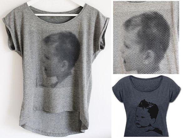 T-shirt gestalten mit Popart Print Fotodruck