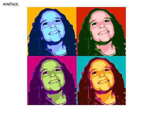Warhol vom Foto - selber malen