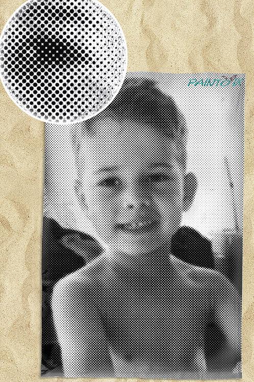 Strandtuch mit Dotprint vom Foto