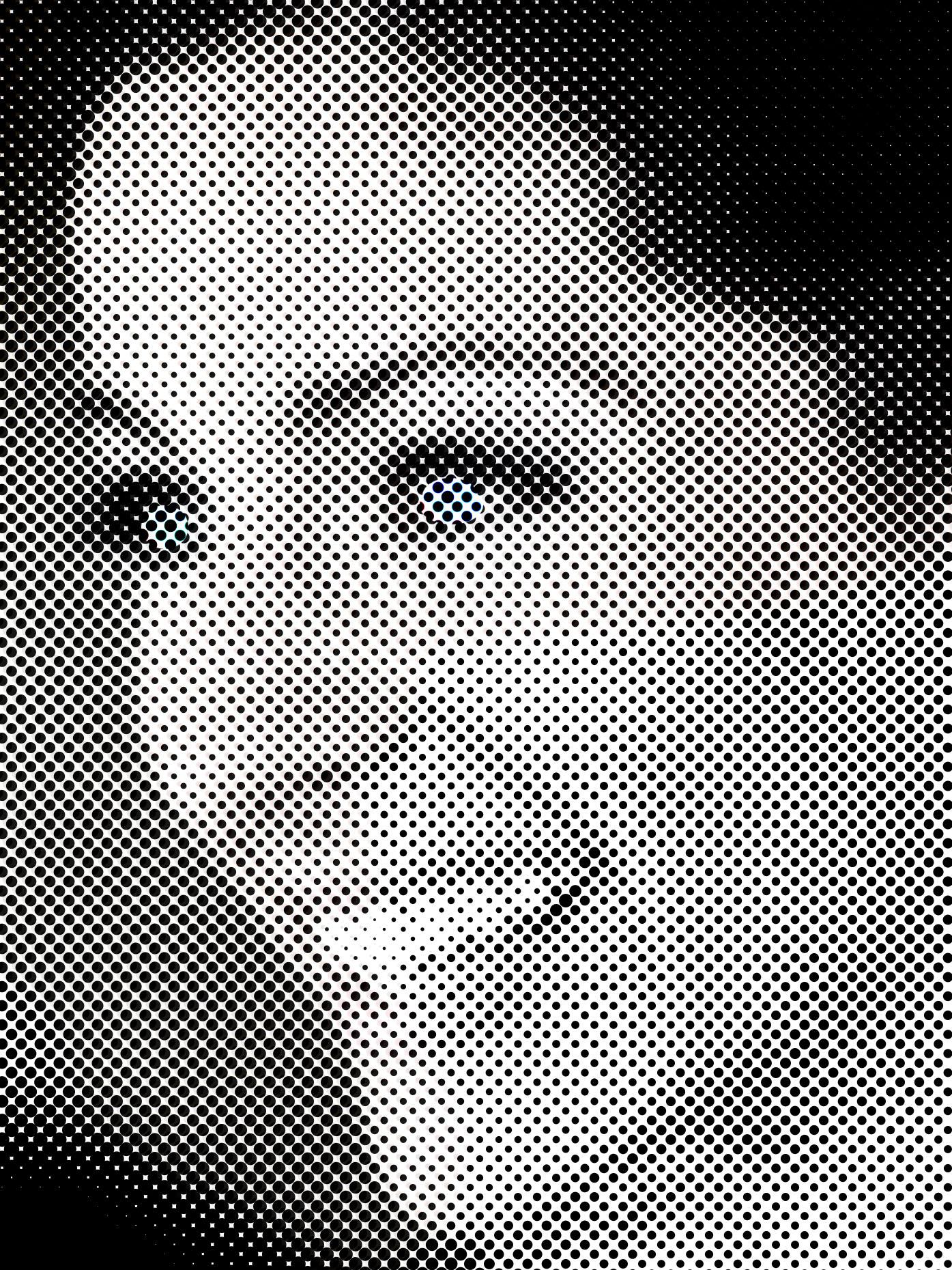 Dot Print vom Foto, halftone foto