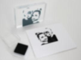 Stempel vom Foto, Fotostempel für Hochzeitskarten