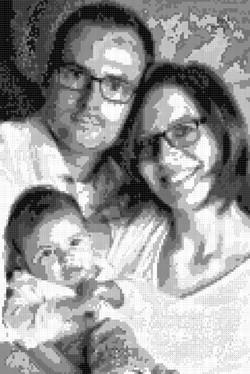 Mosaik vom Foto schwarz weiss