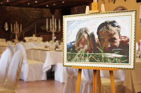 Bild malen Hochzeit, Hochzeitsgeschenk vom Foto