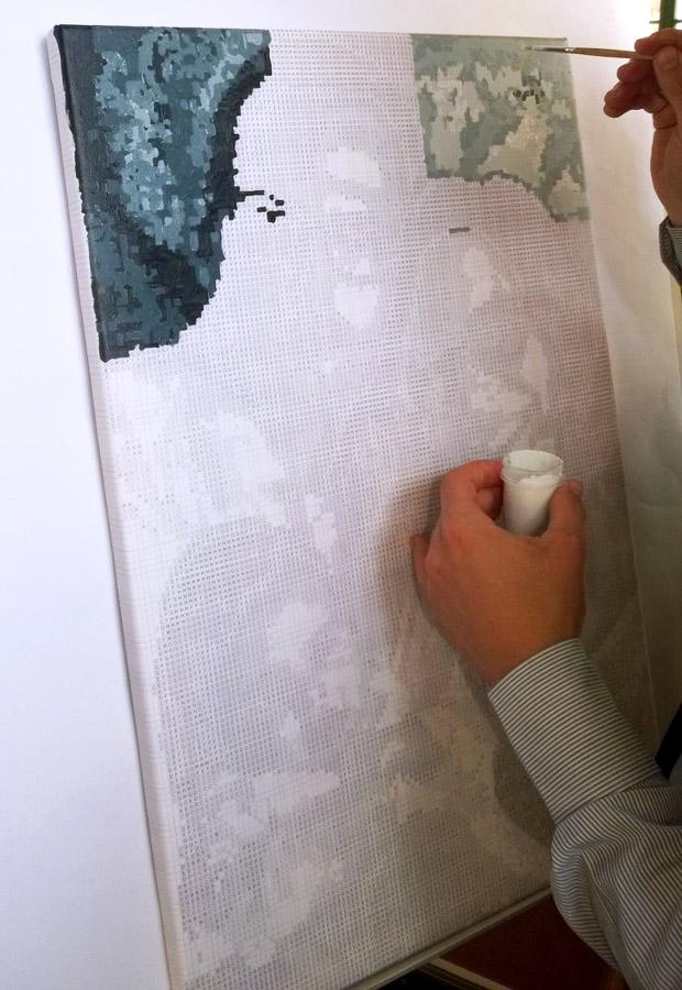 Malen nach Zahlen Hochzeitsspiel