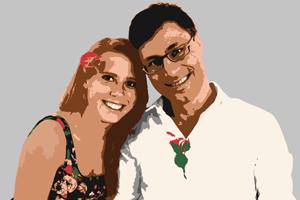 Bild vom Paar Pop Art Print