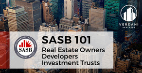 SASB 101 for Real Estate Owners, Developers and Investment Trusts