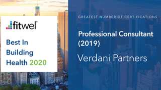Verdani Partners Recognized in Fitwel's Best in Building Health 2020, Second Year in a Row