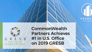 CommonWealth Partners Achieves 1st in U.S. Office Sector in the 2019 GRESB Assessment