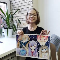 портреты аниме