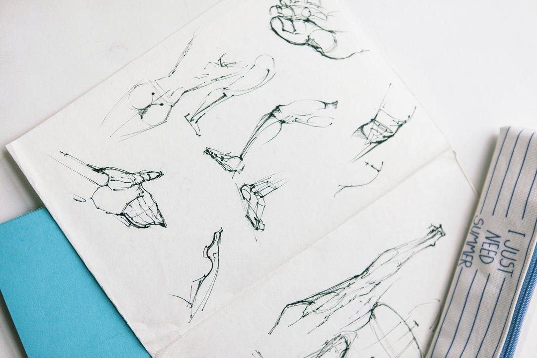 зарисовки частей тела