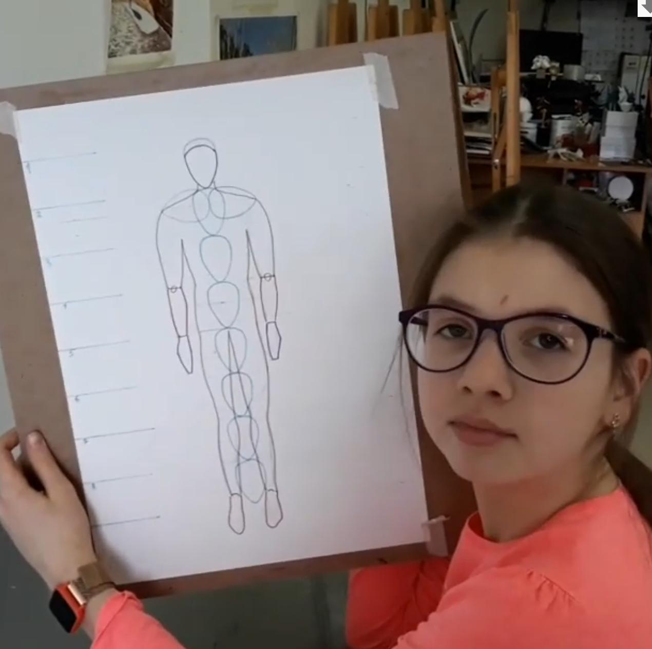 изучаем пропорции человека