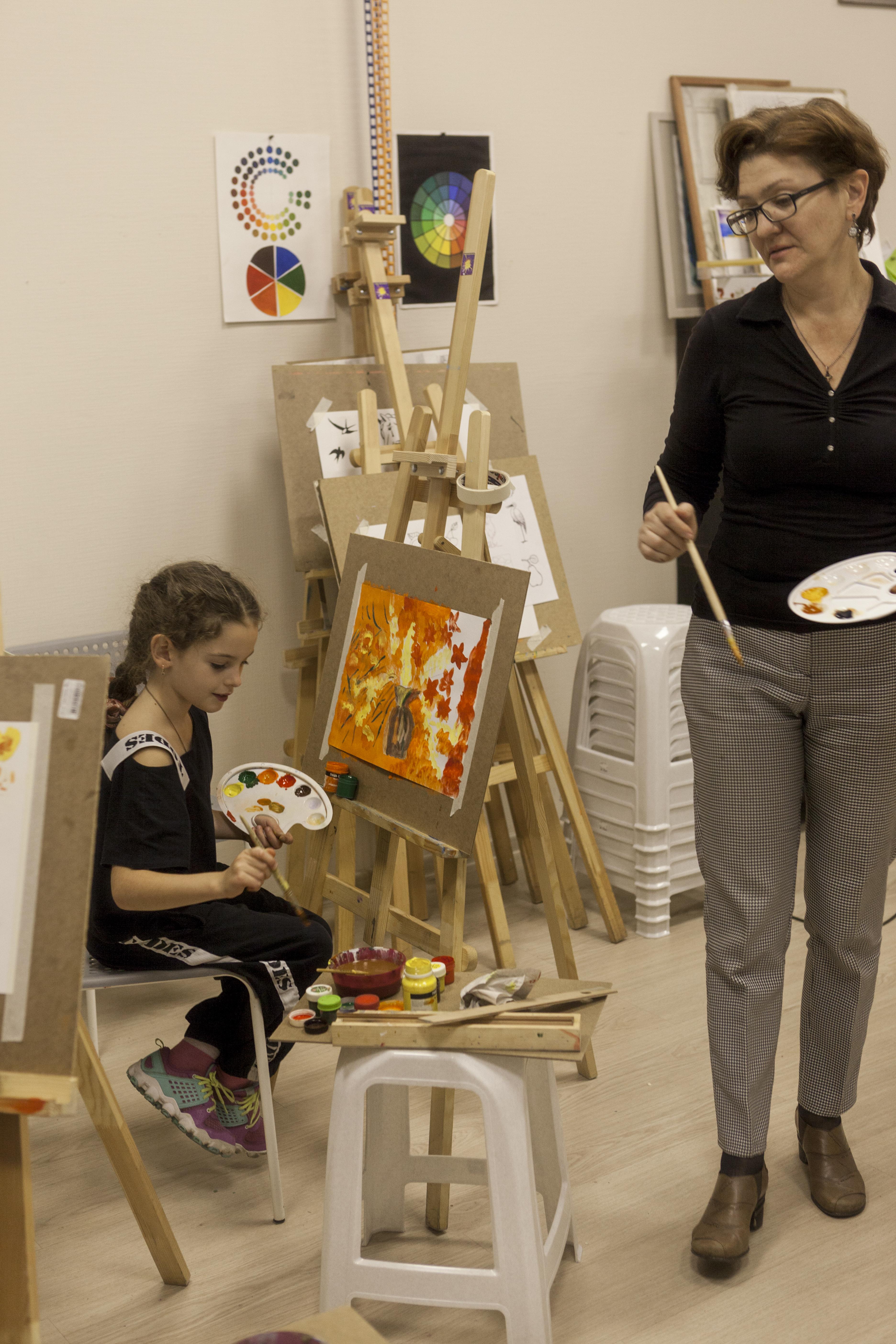 занятие живопись дети 6-7 лет