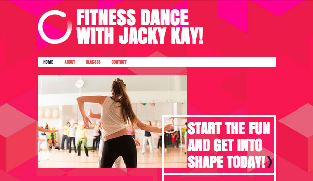 Sport & Recreation website templates – Dance Instructor