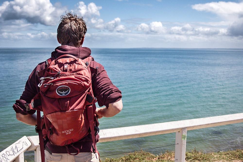 Dan overlooking Frankston Bay