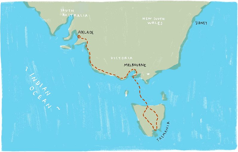 1900 Footprints map