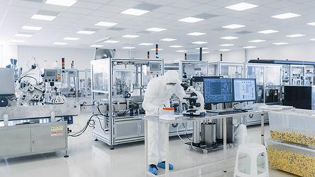 Shot of Sterile Pharmaceutical Manufactu