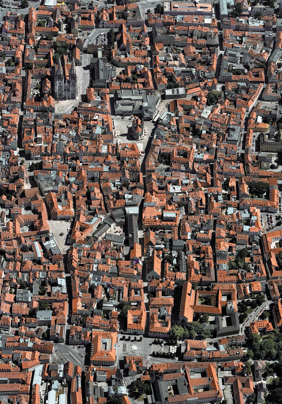Regensburg aus der Luft