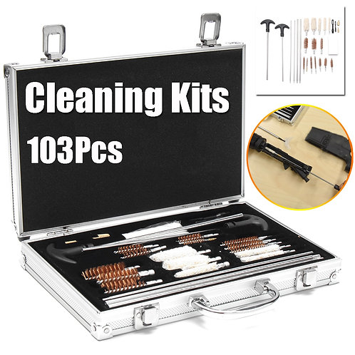 103pcs Universal Gun Cleaning Kit for Rifle Pistol Handgun Shotgun