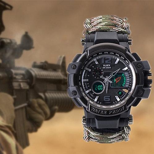 Survival MultifunctionalWaterproof Tactical ParacordBracelet Emergency Gear EDC