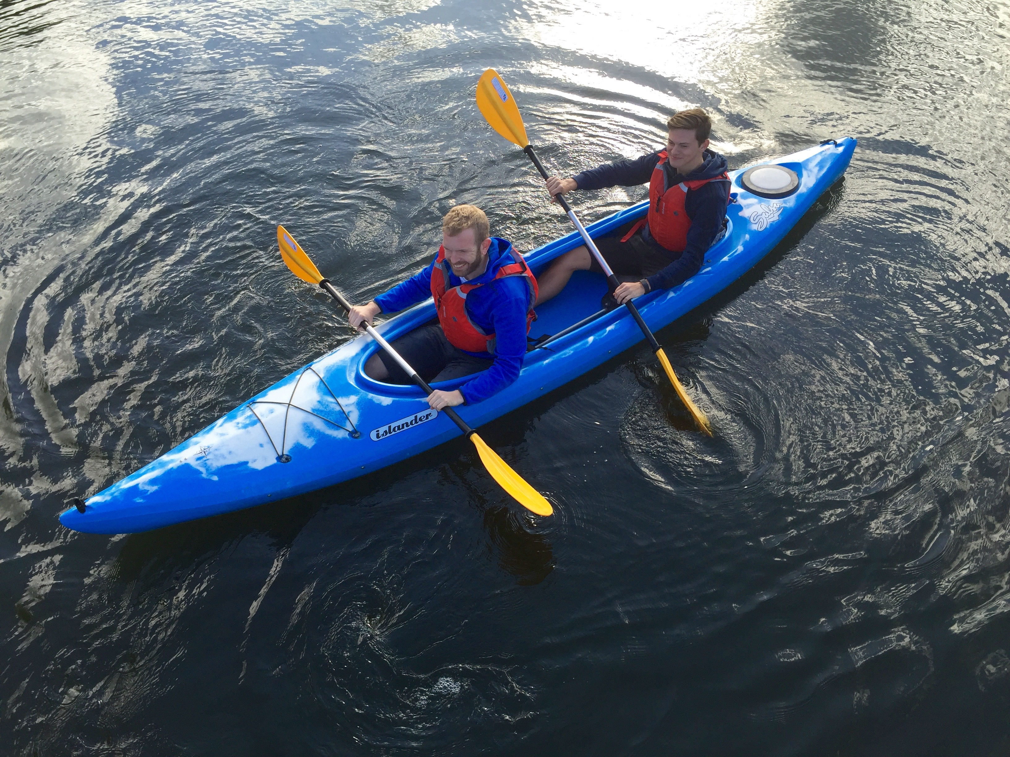 Canoe and Kayak the Thames tandem