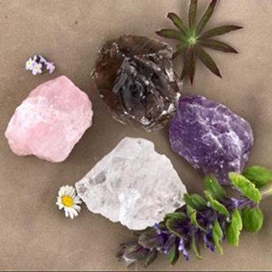 rå kristall, råa stenar, råa kristaller, kristaller, rosenkvarts, rökkvarts, bergkristall, ametist, house of inrdra