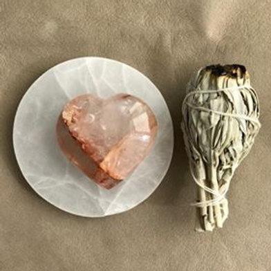 hematioidkvarts hjärta, hematoidhjärta, kristaller, känslomässig balans, hjärtchakra, kristall för ditt hjärta